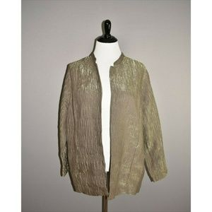 SOFT BY AVENUE Textured Open Cardigan